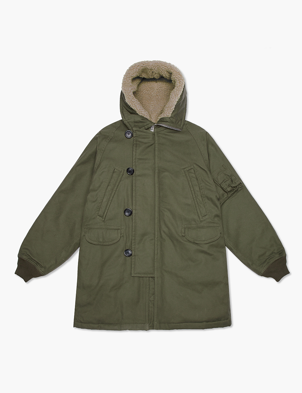COTTON N3-B COAT (KHAKI)