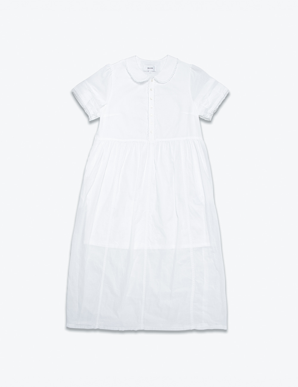 SHORT SLEEVE SHORT WASHED DRESS