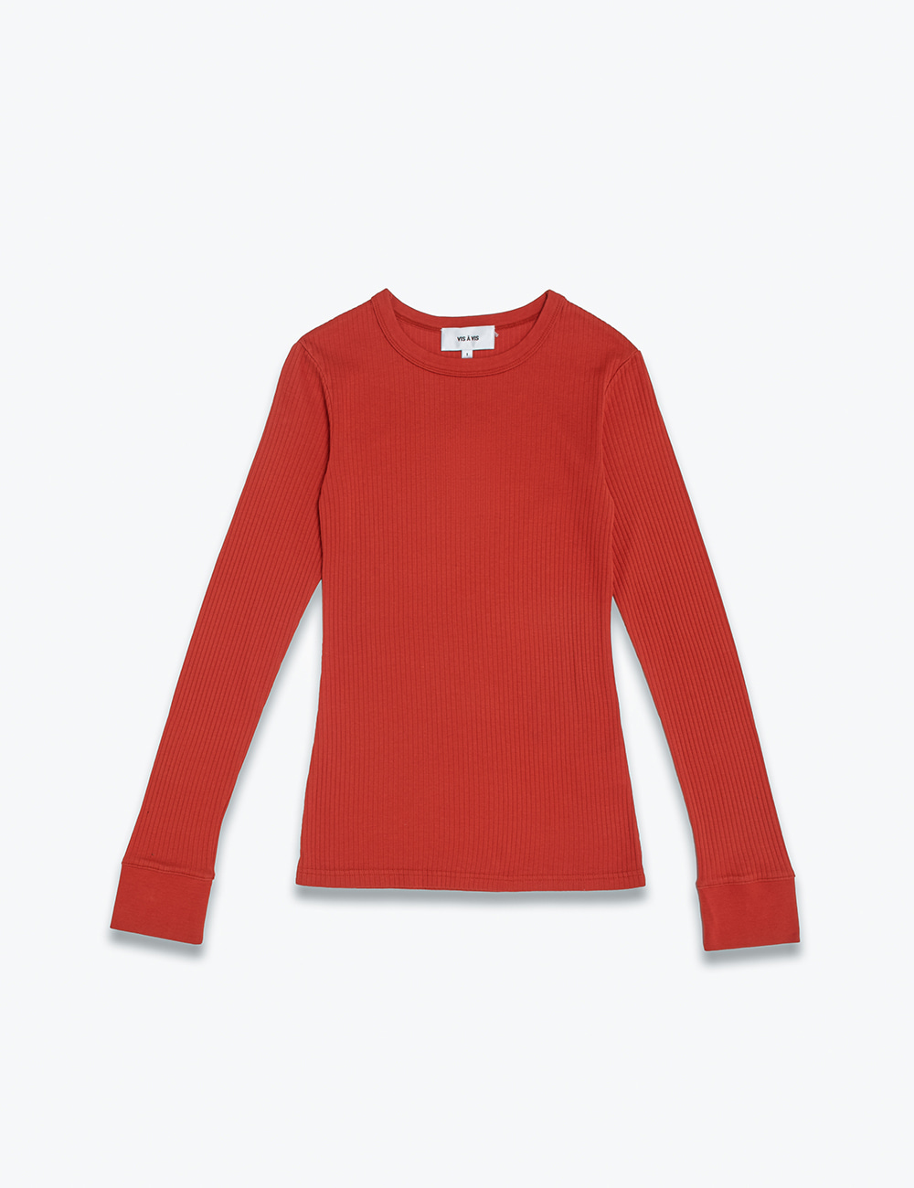 BROAD STITCH RIB CREW NECK TOP