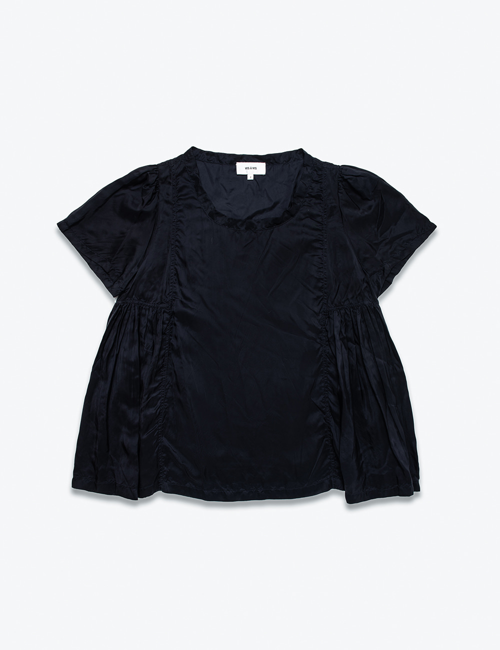CUPRO SIDE PLEATED TOP
