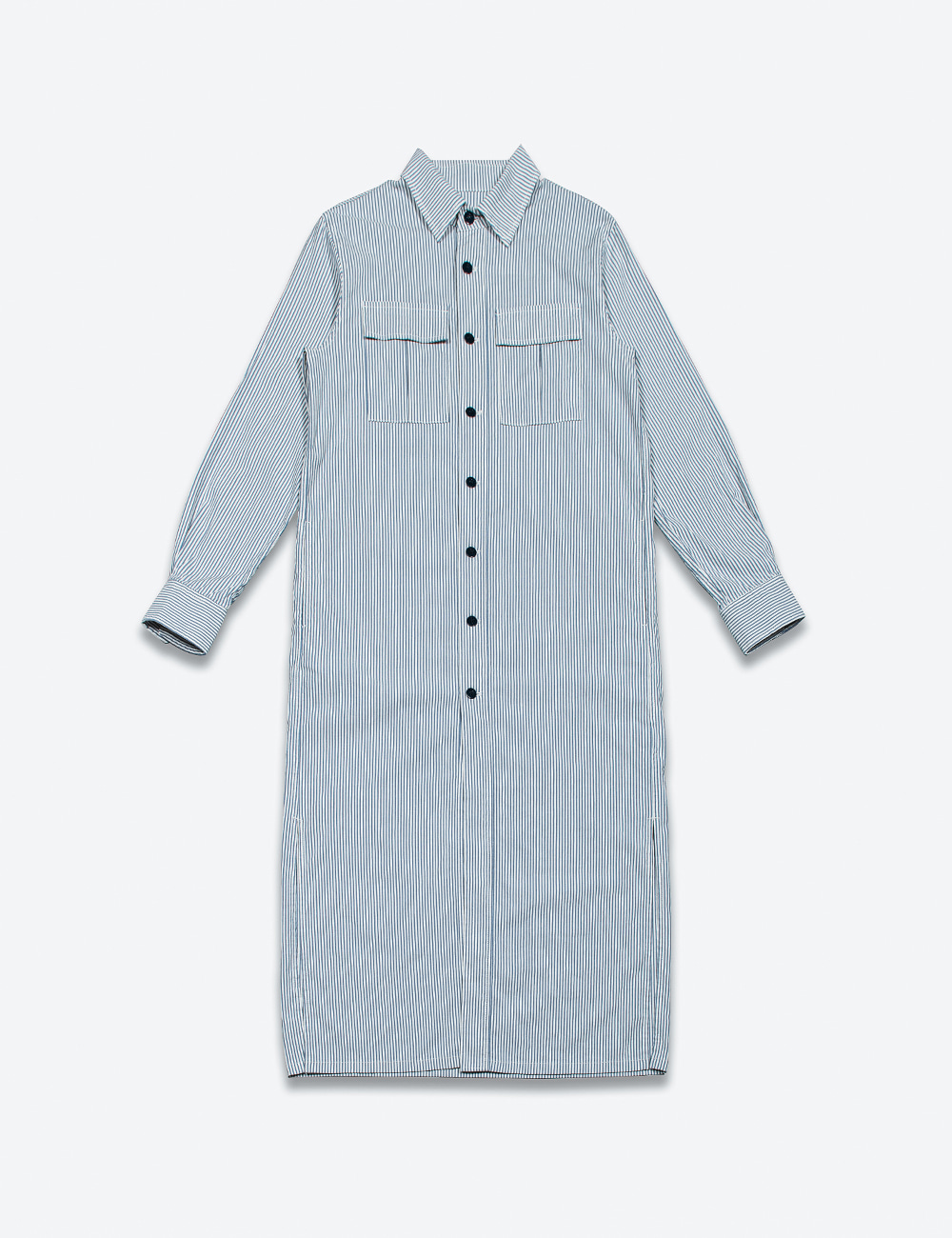 FRONT POCKET SHIRT DRESS