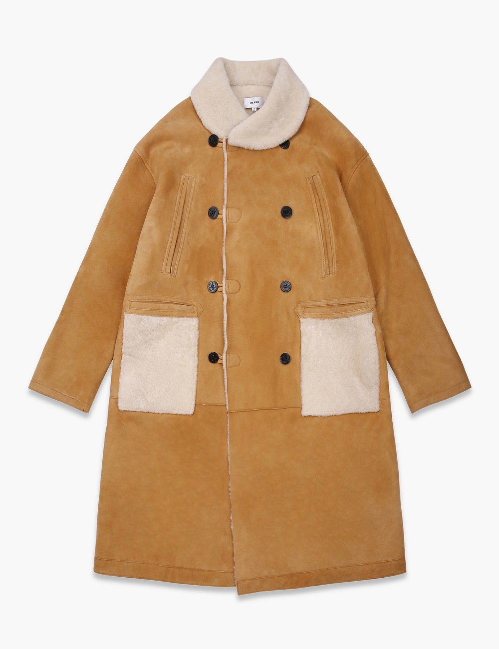 SHEARLING RAILROAD COAT (LONG)
