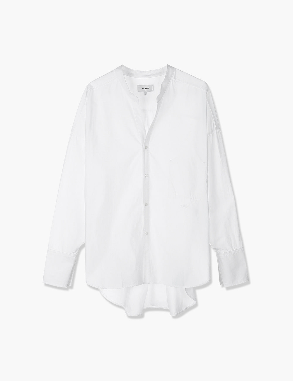 BANDED COLLAR SHIRT (WHITE)
