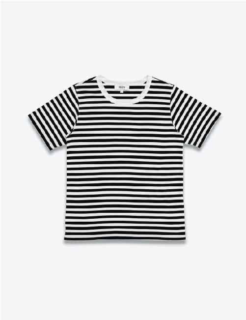 SHORT SLEEVE STRIPED TEE (BLACK/WHITE)